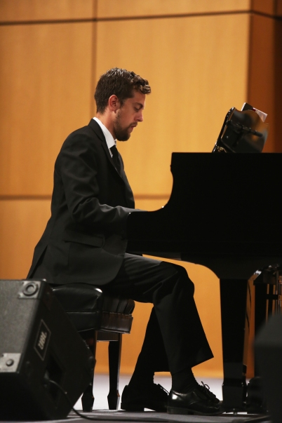 """David Getz performing """"The Overture."""""""